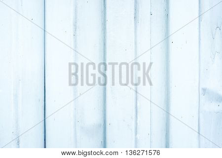 Old White metal ripple sheet wall texture background.