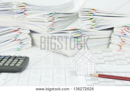 House And Pencil On Finance Account
