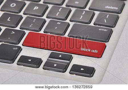 The Computer Keyboard Button Written Word Block Ads