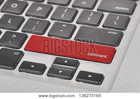 The Computer Keyboard Button Written Word Comment