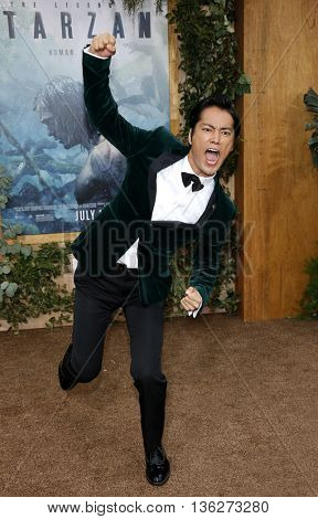 Kenta Kiritani at the Los Angeles premiere of 'The Legend Of Tarzan' held at the Dolby Theatre in Hollywood, USA on June 27, 2016.