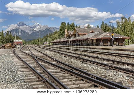 Historic Banff Train Station - Banff National Park, Canada