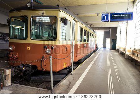 zurich,swiss: electric power train stops near platform in switzerland by zhudifeng on Oct 11 2015