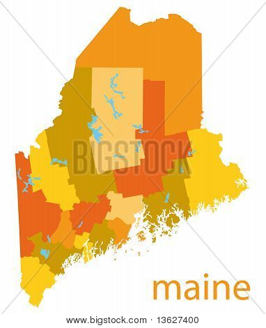 maine state vector map