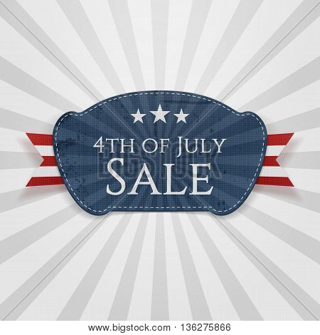 4th of July Sale Badge. Vector Illustration
