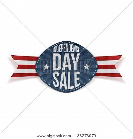 Independence Day Sale scratched Banner. Vector Illustration