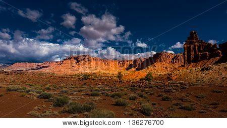 Chimney Rock Capitol Reef Panorama