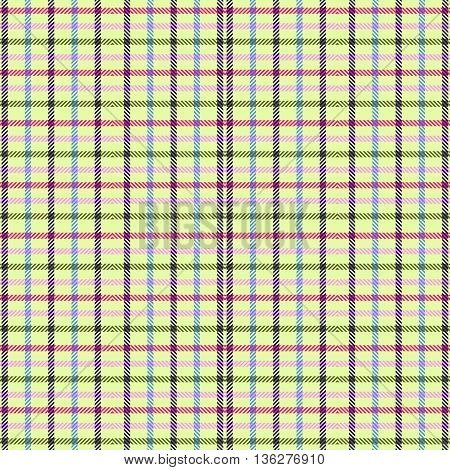 Vector seamless tartan textile pattern. Plaid background.