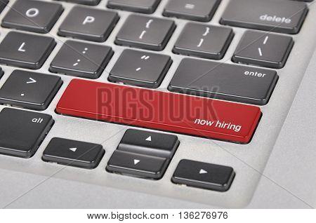 Keyboard  Button Written Word Now Hiring