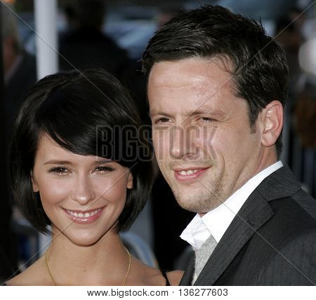 Jennifer Love Hewitt and Ross McCall at the World premiere of 'The Break-Up' held at the Mann Village Theatre in Westwood,  USA on May 22, 2006.