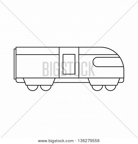 Swiss mountain train icon in outline style isolated on white background