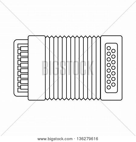 Accordion icon in outline style isolated on white background