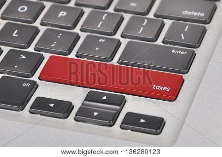 Keyboard  Button Written Word Taxes