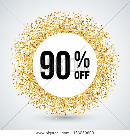 Golden Circle Frame with Discount Ninety Percent