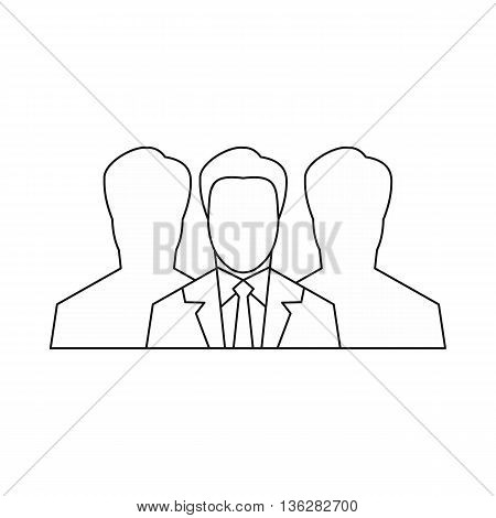 Recruitment icon in outline style isolated on white background