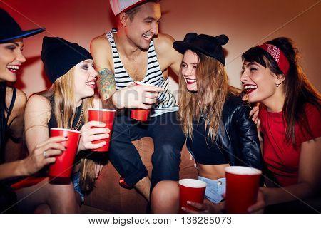Talking in club