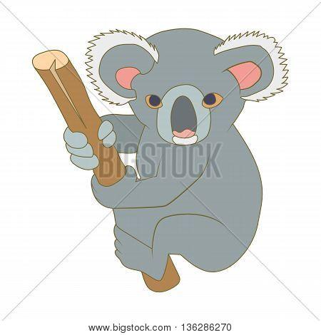 Koala icon in cartoon style isolated on white background. Animals symbol