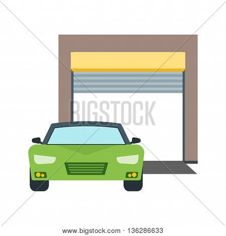 Garage, car, gate icon vector image. Can also be used for car servicing. Suitable for use on web apps, mobile apps and print media.