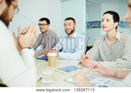 Meeting of employees