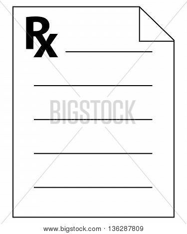 Prescription Icon prescription prescription medicine symbol insurance
