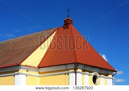 Top of the catholic church of the of the late eighteenth century made in the Baroque style