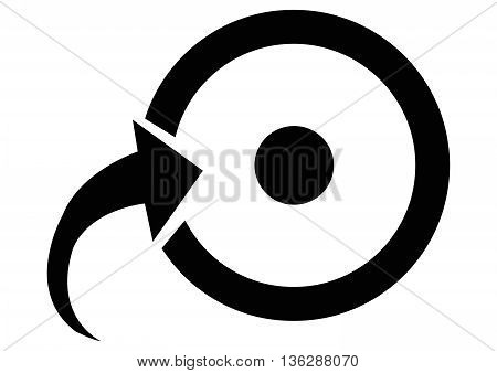 Target Icon arrow symbol arrow - bow and arrow vector cursor