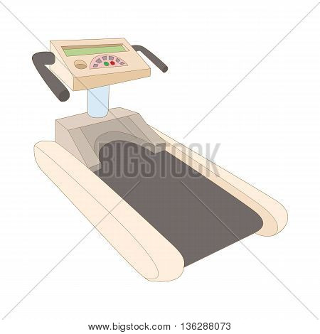 Treadmill icon in cartoon style isolated on white background. Simulators symbol