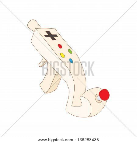 Controller for video games icon in cartoon style isolated on white background. Games and consoles symbol