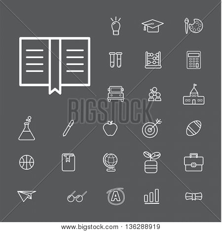 Vector UI Illustration Education School Study Concept