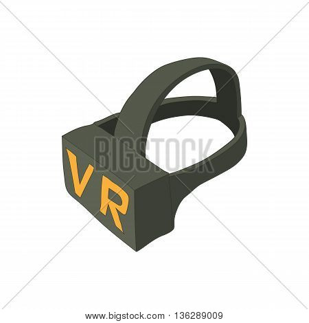 Virtual reality glasses icon in cartoon style isolated on white background. Glasses symbol