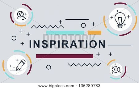 Inspiration Motivation Creative Innovation Graphic Concept