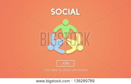 Social Socialize Society Unity Community Global Concept
