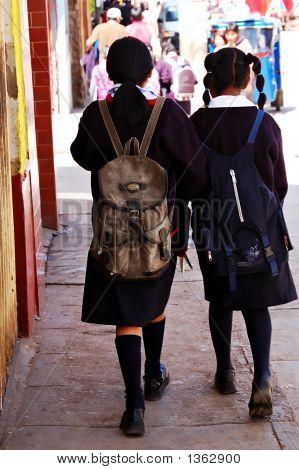 Peruvian Schoolgirls
