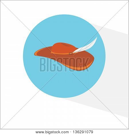 Vector icon cowboy's hat illustration on background
