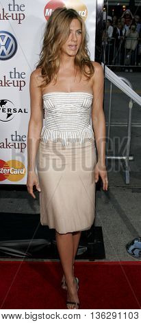 Jennifer Aniston at the World premiere of 'The Break-Up' held at the Mann Village Theatre in Westwood,  USA on May 22, 2006.