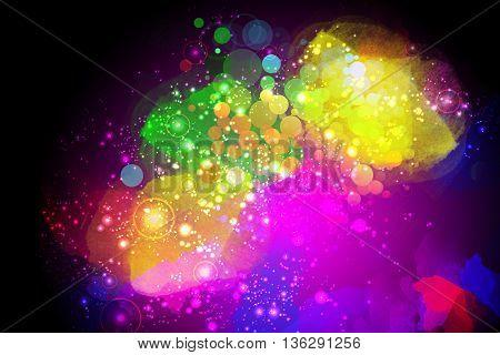 vivid Colorful artistic creative Space Background design