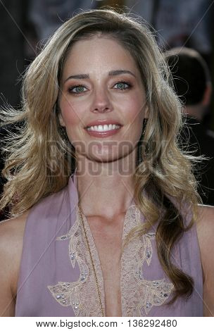 Christina Moore at the Los Angeles premiere of 'Just My Luck' held at the Mann National Theater in Westwood, USA on May 9, 2006.