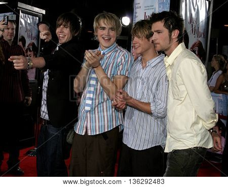 McFly at the Los Angeles premiere of 'Just My Luck' held at the Mann National Theater in Westwood, USA on May 9, 2006.