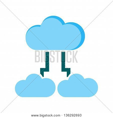 Cloud, sharing, data icon vector image.Can also be used for data sharing. Suitable for mobile apps, web apps and print media.
