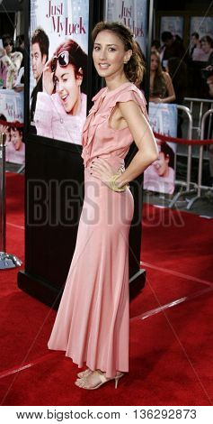 Bree Turner at the Los Angeles premiere of 'Just My Luck' held at the Mann National Theater in Westwood, USA on May 9, 2006.