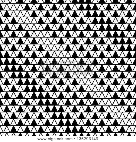 Triangle line seamless pattern. Fashion graphic background design. Modern stylish abstract texture. Monochrome template for prints textiles wrapping wallpaper website etc. VECTOR illustration