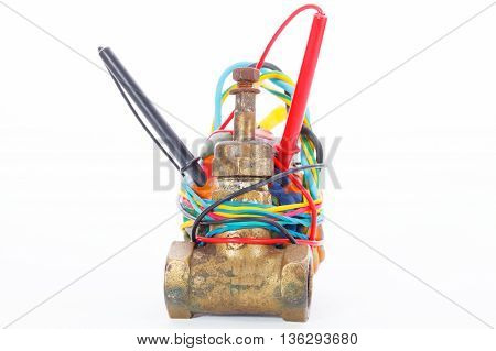 Improvised Explosive Device isolated on a white background