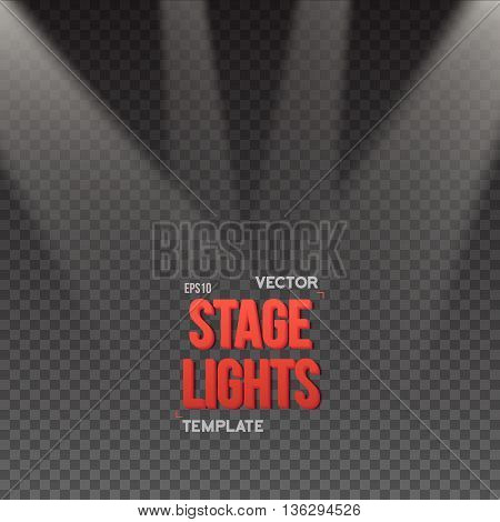 Illustration of Vector Stage Light Effect. EPS10 Bright Stage Light
