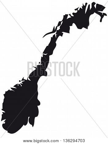 norway map cartography vector cultures silhouette people traveling