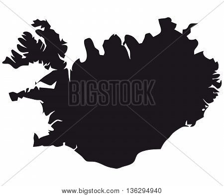 iceland cartography map vector europe city town intricacy