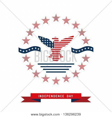 Illustrations backgrounds drawn to the celebration of the fourth of July independence day USA. Vector background with symbols of the United States.
