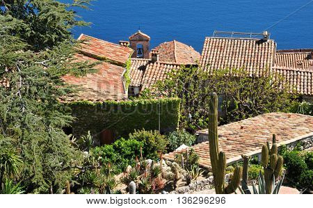 Eze France - april 19 2016 : the small old village