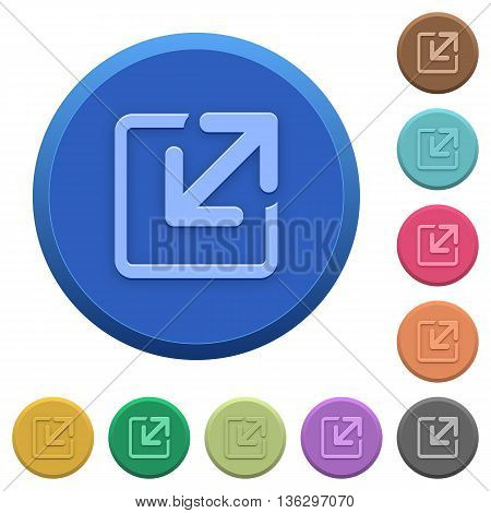 Set of round color embossed resize window buttons