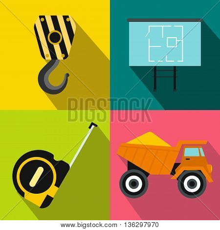 Construction banners set in flat style for any design