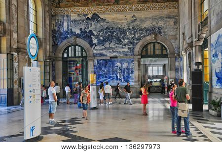 Porto Portugal - july 10 2010 : the train station